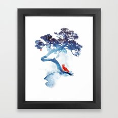 The last apple tree Framed Art Print