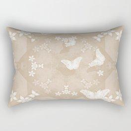 Dreamy butterflies and mandala in iced coffee Rectangular Pillow
