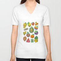 casablanca V-neck T-shirts featuring Fruity Hero by BKK BROS. by BKK BROS. (Bangkok Brothers)
