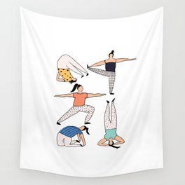 Yoga Ladies Wall Tapestry