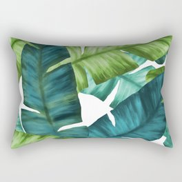 Tropical Banana Leaves Unique Pattern Rectangular Pillow