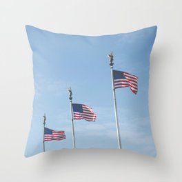 Flags over DC Throw Pillow