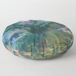 Claude Monet - Water Lilies Floor Pillow