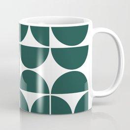 Mid Century Modern Geometric 04 Dark Green Coffee Mug