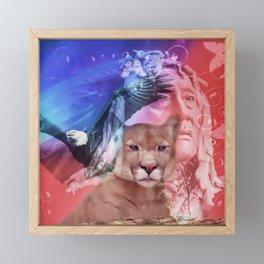 Native American Indian Framed Mini Art Print