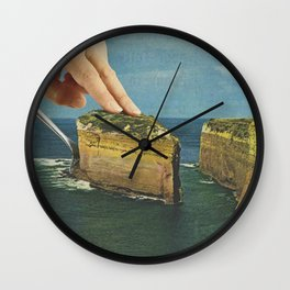 Serving up cake by the seaside Wall Clock