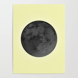 BLACK MOON + CANARY YELLOW SKY Poster