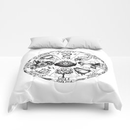 Wiccan Wheel Of The Year Comforters