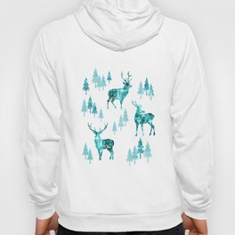 Ice Forest Deer Hoody