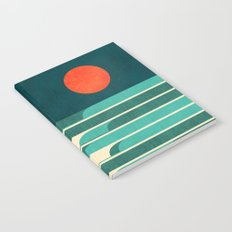 Chasing wave under the red moon Notebook