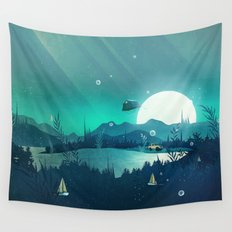 Beneath Barafundle Wall Tapestry