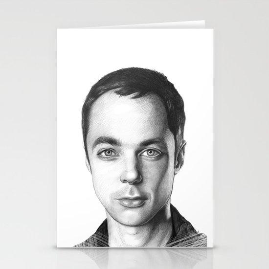 Sheldon Cooper BBT Portrait Stationery Cards