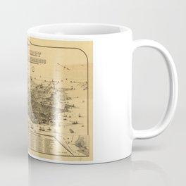 Aerial View of San Francisco, California (1875) Coffee Mug