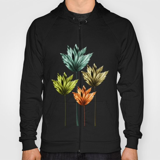 Four Fractal Flowers Hoody