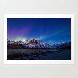 Sunset Aurora Art Print