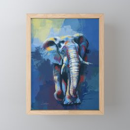 Elephant Dream - Colorful wild animal digital painting Framed Mini Art Print