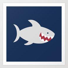 Happy Shark Art Print