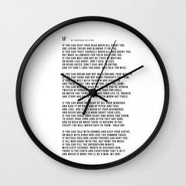 IF #minimalism Wall Clock