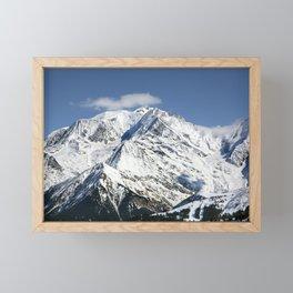 Mt. Blanc with clouds Framed Mini Art Print