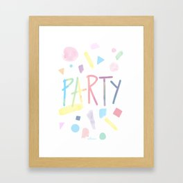 Pastel party Framed Art Print
