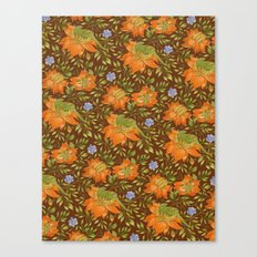 Green bird pattern Canvas Print