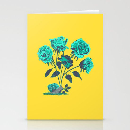 Snails N' Roses Stationery Cards