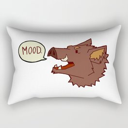 Mood Boar Rectangular Pillow