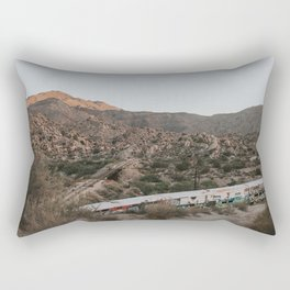 Abandoned Trains in the Mountains Rectangular Pillow