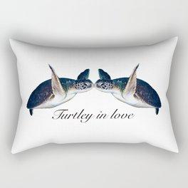 Turtley In Love Rectangular Pillow