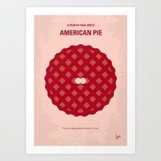 No262 My AMERICAN PIE minimal movie poster Art Print