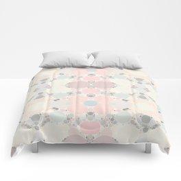 Pastel Neapolitan Circle Pattern Comforters