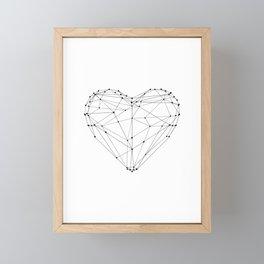 Love Heart Geometric Polygon Drawing Vector Illustration Valentines Day Gift for Girlfriend Framed Mini Art Print