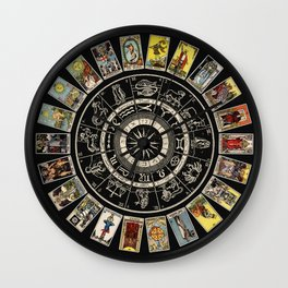 The Major Arcana & The Wheel of the Zodiac Wall Clock