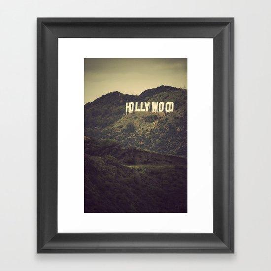 Old Hollywood Framed Art Print