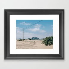 Over the Dunes Framed Art Print