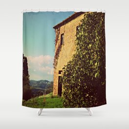 Tuscany Italy Countryside With Villa Shower Curtain