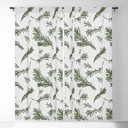 Rosemary rustic pattern Blackout Curtain