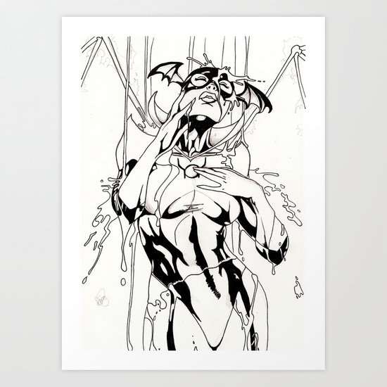 Bathed in blood - Inked Art Print