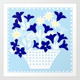 Spring flower basket 4 Art Print