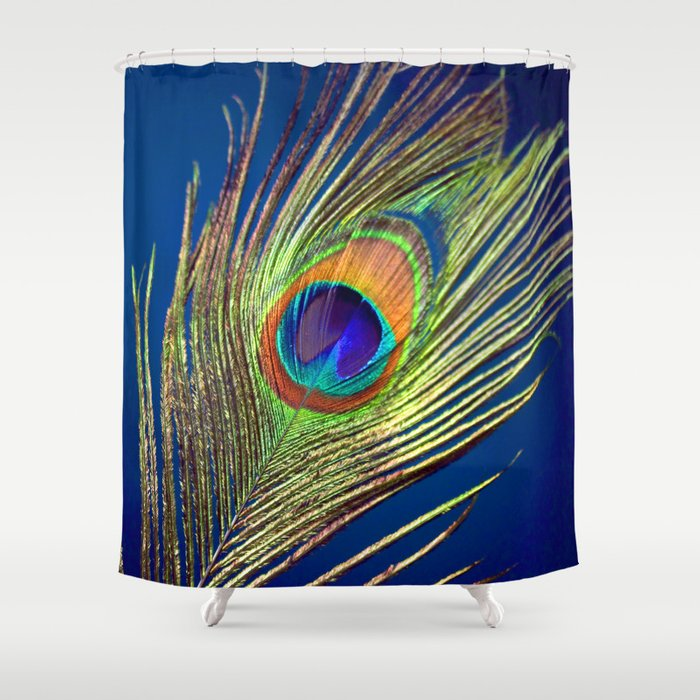 peacock feather Shower Curtain by markashkenazi