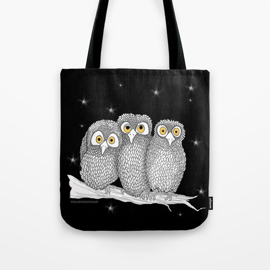 Zentangle Owl Friends at Night  Tote Bag