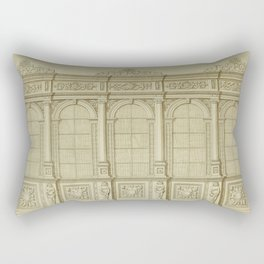 Classical Library Architecture Rectangular Pillow