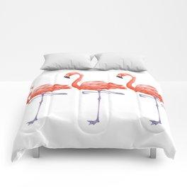 A Colorful Flamingo Triune Comforters