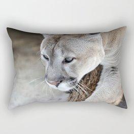 Cougar on a tree branch Rectangular Pillow