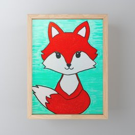 Baby fox Framed Mini Art Print