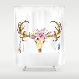 Deer Skull Shower Curtain