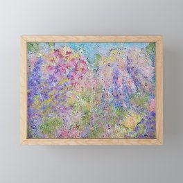 Spring Hydrangeas, Pastel Abstract, Modern Painting Framed Mini Art Print