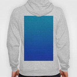 Ombre Hawaiian Ocean Blue Zaffre Gradient Motif Hoody