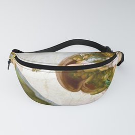 The Creation of Adam Painting by Michelangelo Sistine Chapel Fanny Pack