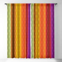 Jewel Tone Color Stripes Blackout Curtain